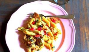 Salade estivale de Penne Rigate et Poulet