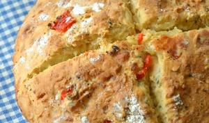Scone géant Mozzarella, Poivron rôti et Basilic
