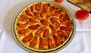 Tarte abricots, ricotta et pignons de pin