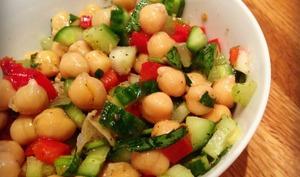 Salade de pois chiche et zaatar
