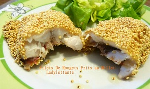 Filets de Rougets Frits au Millet