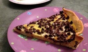 Tarte aux bananes et pépites de chocolat