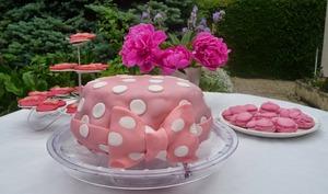 Gâteau d'anniversaire red velvet Minnie Mouse