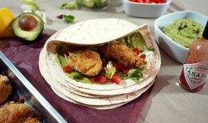 Tortillas de poulet croustillant