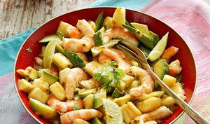 Salada de camarão com maracuja