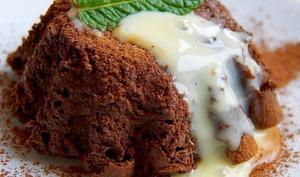 Pudding au tofu chocolat menthe