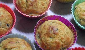 Muffins aux poireaux