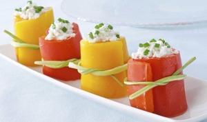Roulés apéritifs au poivron grillé