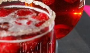 Cocktail aux framboises et épices