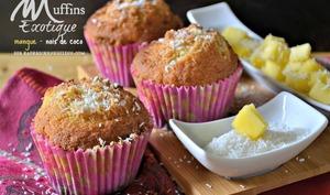 Muffins exotique à la mangue et noix de coco