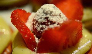 sablés façon tarte à la fraise
