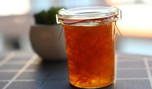 Zestes d'oranges confites et leur sirop
