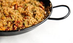 Paella au chorizo et poulet