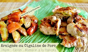 Plancha cigaline ou araignée de porc à la provençale