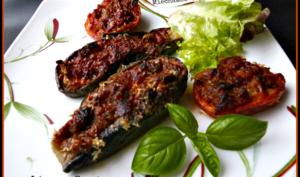Légumes farcis à la mozzarella et anchois