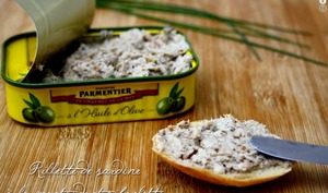 Rillettes de sardine à la moutarde et ciboulette