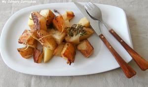 Pommes de terre nouvelles des sables au thym frais et au citron