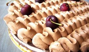 Entremet chocolat cerise