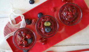 Sorbet express aux fruits rouges