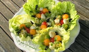 Salade de billes multicolores au sésame