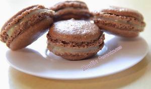 Macarons duo chocolat-chocolat blanc