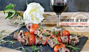 Brochette boeuf chorizo pimento et romarin à la plancha