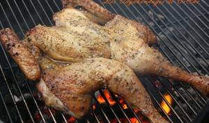 Poulet en crapaudine au barbecue