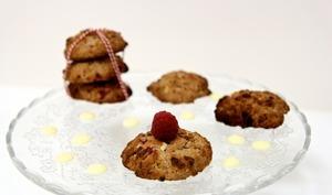 Cookies moelleux framboises chocolat blanc