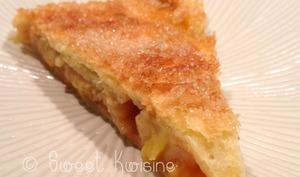 La tarte à la confiture d'abricots et à la banane