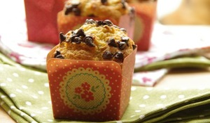 Muffins à l'orange et graines d'anis aux pépites de chocolat