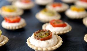 Mini tartelettes tomate thon moutarde