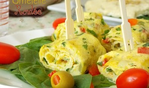Omelette roulée aux herbes
