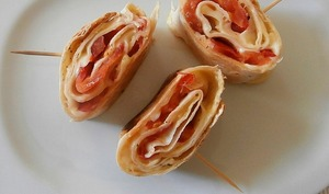 Wrap chaud tomates moutarde emmental