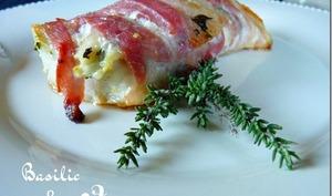 Dos de poisson au lard, citron et basilic