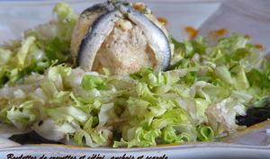 Petites boulettes de crevettes et céléri en salade