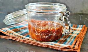 Chutney aux pruneaux, abricots secs et framboises