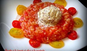 Risotto à la tomate et glace à la moutarde