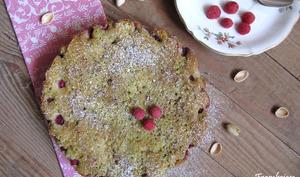 Moelleux pistaches et framboises