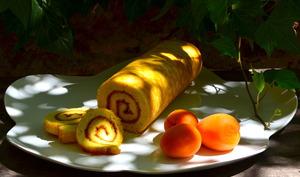 Gâteau roulé à l'abricot