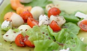 Salade de melons au chèvre