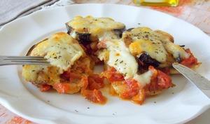 Escalopes de poulet sauce tomate et mozzarella
