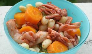 Salade de haricots coco aux encornets