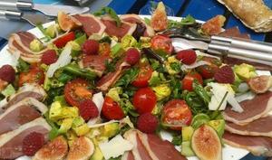 Salade gasconne de fin d'été aux figues