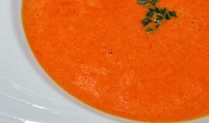 Soupe de poivrons au gingembre