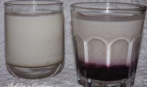 Yaourts à la vanille et aux myrtilles