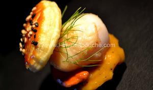 Bouchées des St. Jacques à la Crème de Mangue Pimentée