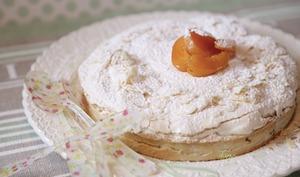 Tarte macaronnée pêche-abricot