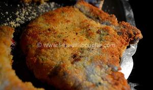 Côtelettes de Porc Panées Fourrées au fromage et au Basilic