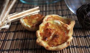 Quichette au crabe et légumes