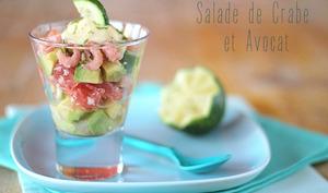 Salade de Crabe Crevette et Avocat